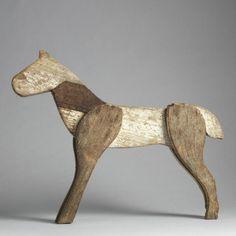 Primitive Toy Horse (From Robert Young Antiques) Fork Art, Robert Young, Wooden Horse, Most Beautiful Animals, Art Archive, Garden Art, Kids Playing, Folk, Sculpture