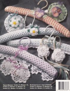 Floral Hangers & Sachets Sets Annie's Attic by LucyGooseyDolls