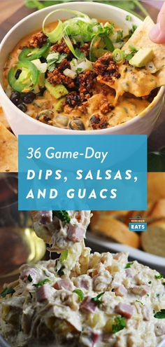 Like finger foods, dips are a natural choice for game day snacking because of how easy they are to eat on the couch. But they have other advantages, too: They're easy to make in large quantities and light enough to eat for a couple hours straight. The challenge, then, is deciding which ones to serve. Keep reading to find all of our favorite Super Bowl dip recipes. #GameDay #SuperBowl #SuperBowlSunday #GameDayRecipes #PartyFood #Dips #Entertaining #SeriousEats