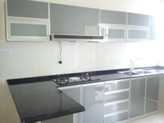 Stunning Aluminium Kitchen Cabinet For You ,When compared to carpenter-built kitchens, such a sort of kitchen would seem extraordinary. Updating a kitchen can become very costly. Remodeling your. Aluminum Kitchen Cabinets, Aluminium Kitchen, Black Kitchen Cabinets, Kitchen Worktop, Kitchen Room Design, Kitchen Sets, Home Decor Kitchen, Kitchen Furniture, Kitchen Interior