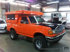 Bronco w/ pop-up camper