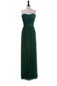Strapless Chiffon Dress with Sequin Belt      Not the color but loving the dress?