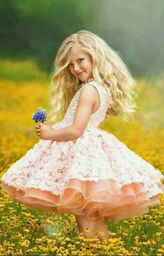 Little girl in pretty dress