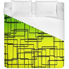 Geometrical lines pattern, asymmetric blocks theme, line art Duvet Cover (King Size) #duvets #bedroom #bedding #home #decor #art Dream even sweeter dreams when you lay your head down to sleep at night under your personalized duvet quilt! With a range of sizes to choose from you can design matching sheets for your whole family. Why not match it with pillow cases and a fitted sheet as well to have a complete set?