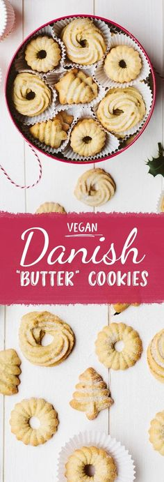 Vegan Danish Butter Cookies THIS! Not as healthy, but Christmas is coming up and who doesn't enjoy a cruelty free butter cookie? Danish Butter Cookies THIS! Not as healthy, but Christmas is coming up and who doesn't enjoy a cruelty free butter cookie? Vegan Treats, Vegan Foods, Vegan Dishes, Vegan Junk Food, Vegan Gifts, Vegan Christmas Cookies, Christmas Baking, Cookies Vegan, Vegan Christmas Desserts