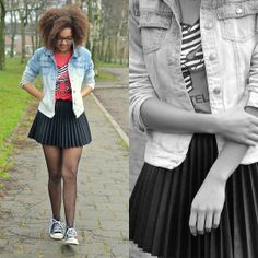 The leather skirt (by Roos A) http://lookbook.nu/look/4623979-The-leather-skirt
