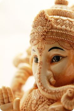 Ganesha has a dual role of removing obstacles as well as creating obstructions Indian Gods, Indian Art, Om Gam Ganapataye Namaha, Baby Ganesha, Shree Ganesh, Jai Ganesh, Lord Ganesha Paintings, Ganesha Pictures, Buddha Zen