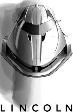 Lincoln MKF Concept by Brian Malczewski - Design Sketch, future car, concept car, futuristic car