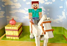 #Minecraft Steve on Horse Playset - such a cool gift for 8 year olds
