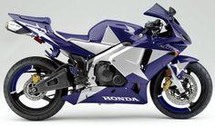 Honda CBR600RR blue with silver star paint scheme