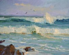 """Crushing Waves"" - Original Fine Art for Sale.  © by Tonya Zenin"
