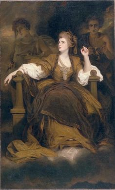 """Joshua Reynolds Mrs. Siddons as the Tragic Muse He promoted the """"Grand Style"""" in painting which depended on idealization of the imperfect"""