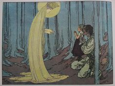 Art Nouveau (Jungendstil) German Childrens Books: Marienkind by Heinrich Lefler and Joseph Urban, 1904.