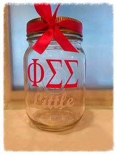 Phi Sigma Sigma , Phi Sig personalized custom Sorority mason cup W/ lid straw & bow choose your vinyl color $7.50 each. https://www.etsy.com/listing/165146236/phi-sigma-sigma-phi-sig-personalized?ref=shop_home_active