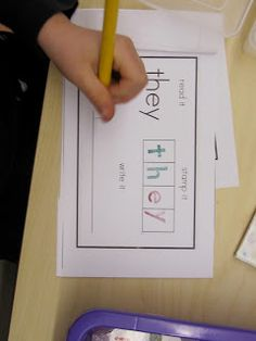 FREE Sight Word Stamping Book. Could also use letters cut out from magazines.