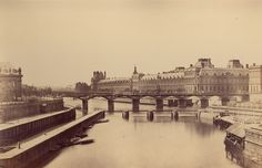 Unknown - Paris. General view of the city with the new bridge, 1860