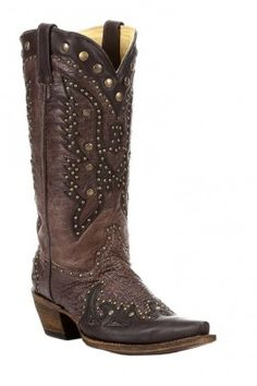 Corral Eagle Inlay and Stud Boot A2607
