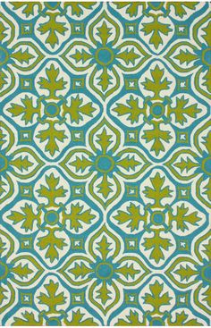 Put door rug, i like this one but maybe too busy. love the colors. Hacienda Farida Outdoor Lime Rug | Outdoor Rugs