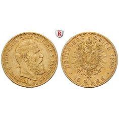 Deutsches Kaiserreich, Preussen, Friedrich III., 10 Mark 1888, A, ss+, J. 247: Friedrich III. 1888. 10 Mark 1888 A. J. 247; GOLD,… #coins