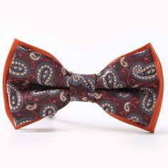 BRAND NEW LUXURY BROWN SOLID MEN/'S BOW TIE/&POCKET SQUARE SET B712