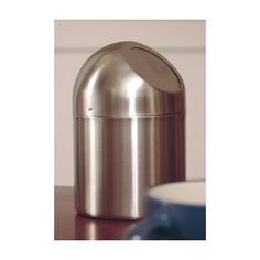 Coffee Station Stainless Steel 4.75 Inch Stainless Steel Table Top Trash Can  4.75 Inch Flap Lid 7.5 Inch Tall Tags: Coffee Station; Countertop Trash  Bins; ...