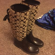 Coach boots They are size 7. They are in great condition. Authentic Coach Shoes Winter & Rain Boots