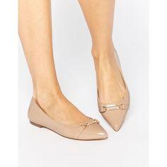 Carvela Moore Point Flat Shoes - Beige