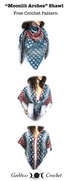 """Moonlit Shawl"" - Free Crochet Pattern"