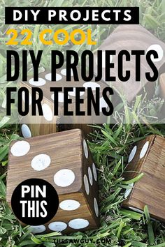 Stuck at home these days? Quarantine isn't fun but you can make it a little bit better for the kids with some fun indoor activities to keep them occupied. If you have a teenager, check out our list of 22 cool DIY projects for teens for some great ideas.  #thesawguy #indooractivities #diyproject #quarantineideas #diyforteens #diyideas #fundiy #funprojects Woodworking Projects For Kids, Diy Projects For Kids, Diy Wood Projects, Project Ideas, Diy For Teens, Diy Crafts For Kids, Fun Indoor Activities, Handmade Wooden Toys, Upcycled Crafts