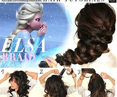 Disney Hairstyles elsas hair how to for halloween disney princess hairstylesfrozen 15 Disney Makeup And Hair Tutorials Perfect For Your Halloween Costume