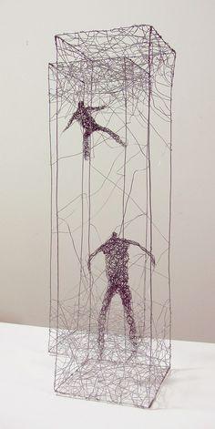 Urbanised wire sculptures Barbara Licha 6