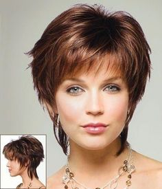 If you have a hair texture that falls somewhere in between straight and curly, and you don't know what cut that suit you, try short shag hairstyles. Here are our collections of short shag hairstyles, perfect for medium - short hair. Short Shag Hairstyles, Cute Short Haircuts, Short Hairstyles For Women, Layered Hairstyles, Pixie Haircuts, Hairstyles 2016, Haircut Short, Haircut Men, Trendy Hairstyles