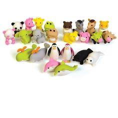 3D Animal Erasers - 288 cute little animal erasers #backtoschool #schoolsupplies