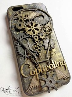 Shimmerz Paints: Steampunky Altered Mobile Case