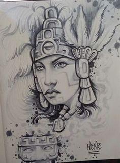 Chicano Arte Chicano Drawings, Chicano Art, Art Drawings, Anatomy Sketches, Art Sketches, Aztec Drawing, Aztec Tattoo Designs, Peruvian Art, Aztec Culture