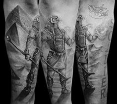egyptian tattoos best images collections hd for gadget Horus Tattoo, Anubis Tattoo, Pharaoh Tattoo, War Tattoo, Goddess Isis Tattoo, King Tut Tattoo, Gott Tattoos, Egyptian Tattoo Sleeve, Wolf Tattoos Men