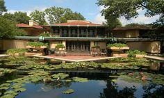 Avery Coonley House. Prairie Style, Frank Lloyd Wright. Riverside, Illinois. 1907-8