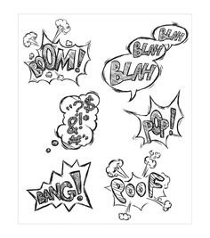 Replicating the quirky speech bubbles of comic books, the Stampers Anonymous Tim Holtz Crazy Thoughts Cling Rubber Stamp Set is a fun choice for all comic lovers. This pack contains stamps that featur