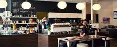 Transcend Coffee - Garneau Location Transcend has the best coffee in Edmonton. The flat white is amazing. Coffee Snobs, Late Night Snacks, Best Coffee, Shop Ideas, Restaurants, Shops, Canada, Flat, Furniture