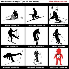 Telemark, Paragliding, Badminton