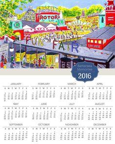 Battersea  Fun Fair Calendars For 2016 Printed on by BernieShop