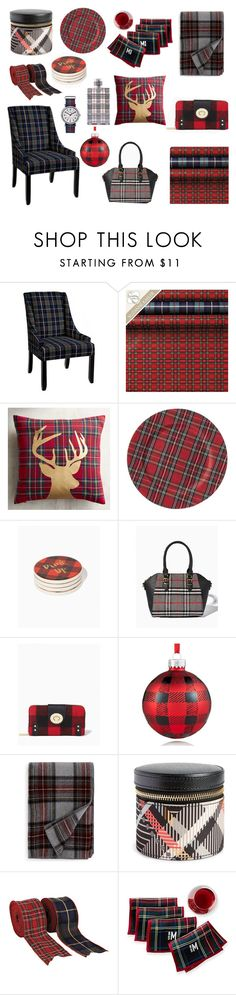 """Mad for Plaid"" by nancy-nicol ❤ liked on Polyvore featuring Ballard Designs, Pier 1 Imports, Holiday Lane, Pendleton, Vera Bradley, Mark & Graham and Timex"