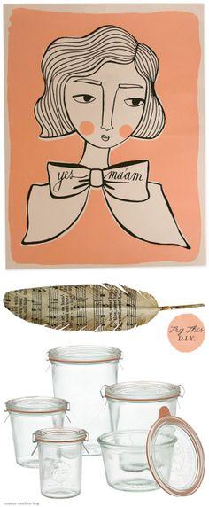 Of Bows, Paper Feathers + Jam Jars | Creature ComfortsCreature Comforts