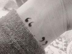 Quotation mark tattoo