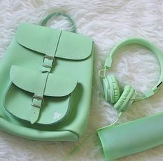bag, green, and backpack image