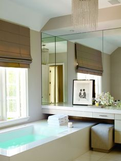 Mirror that slides over the bathroom window perfect for for Bathroom configurations