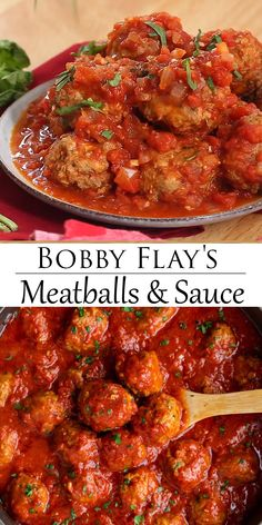This Italian Meatball Recipe from Bobby Flay is easy to make ahead of time on the stove top and reheat in the Crock Pot and it makes a great freezer meal meatballs Italian BobbyFlay GroundBeef Freezermeal CrockPot MarinaraSauce # Meatball Marinara, Marinara Sauce, Meatball Appetizers, Meat Sauce, Meat Recipes, Crockpot Recipes, Hot Sausage Recipes, Beef Kabob Recipes, Pasta Sauce Recipes