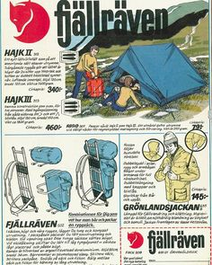 #tbt to one of our ads from the early 70s... revolutionary gear then, perfected and refined over the years. Shop quality outdoor gear today at fjallraven.us #fall16 #righttoroam #heritage #fjallraven