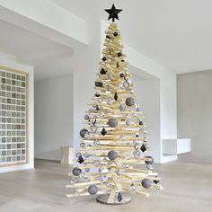 Weihnachtsbaum aus Holzlatten | Holzlatten-Tannenbaum