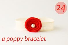 flax & twine   craft + diy: Day 24: A Poppy Bracelet - a diy jewelry tutorial